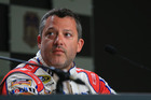 Tony Stewart speaks to the media during a press conference. Photo / Getty Images