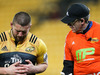 Hurricanes captain Dane Coles leave the field injured during last night's Super Rugby quarter-final between the Hurricanes and the Sharks in Wellington. Photo / Getty Images