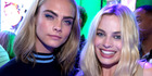 Cara Delevingne and Margot Robbie of 'Suicide Squad'.