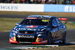 Craig Lowndes during race 2 for the V8 Supercars Ipswich Supersprint. Photo / Getty Images