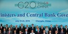 G20 Finance Ministers and Central Bank Governors pose during a group photo photo the G20 Finance Ministers and Central Bank Governors meeting. Photo / Getty Images