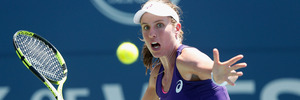 Johanna Konta during the Bank of the West Classic at the Stanford University. Photo / Getty Images
