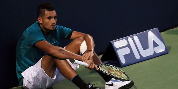 Loading Nick Kyrgios has had another meltdown. Photo / Getty Images