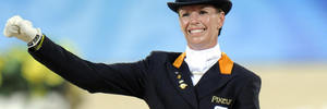 Dutch equestrian rider Anky van Grunsven competes in the 2008 Beijing Olympics. Photo / Getty Images