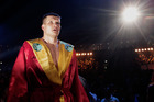 Alexander Dimitrenko of the Ukraine poses before the fight against Eddie Chambers of the USA during the WBO Eliminator Heavyweight fight. Photo / AP.