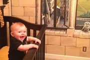 Seven-month-old Finley Daniel looks pretty pleased with his surroundings. Photo / Facebook, Kaycee Daniel.