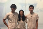 Duoyi Xu, Hayley Yu and Edwin Tsang, the three Kiwi students behind food delivery app Clove. Photo / Holly Ryan