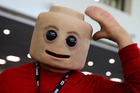 The nightmarish 'Creepy Fig' Lego costume. Photo / Instagram