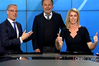 Billy Crystal hijacked One News during a live broadcast.