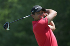 Jason Day smiles as he warms up during a practice round for the PGA Championship. Photo / AP