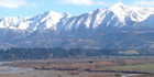 The stunning view from Richard Loe's farm. Apart from that dry river bed...and the high snow line.
