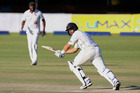 New Zealand's batsman Ross Taylor competes during the second day of the first test match in a series of two tests between New Zealand and hosts Zimbabwe. Photo / Jekesai Njikizana