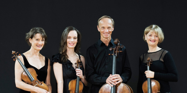 The New Zealand String Quartet will perform in Whanganui on Sunday.