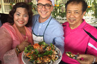 Kiwi MasterChef Brett McGregor is in Thailand gathering inspiration for a new Thai restaurant in New Zealand. Photo / Supplied