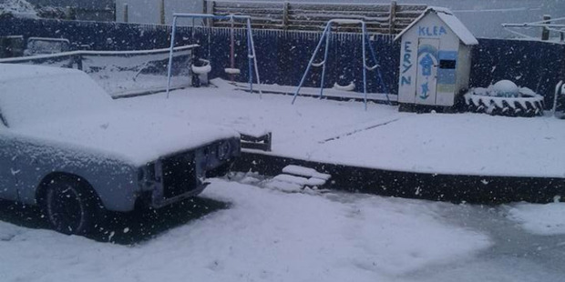 Gore can once again expect snow, like it did last week in this image posted by Mike Puru. Photo / Supplied