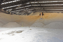 The tapioca storage plant where a fire started. Photo/George Novak
