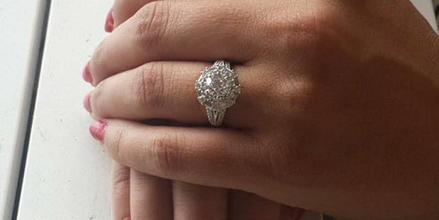 Engagement ring belonging to Mimoza Ilieva. Photo / Supplied