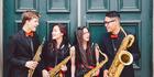 Mark Holdaway, Rachel Liao, Alena le Ngoc, and Mahlon Moevao are members of the saxophone quartet Papricca.
