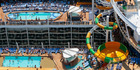 Splashaway Bay and pool decks on board Harmony of the Seas.