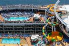 Splashaway Bay and pool decks on board Harmony of the Seas.