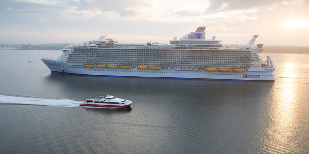 Royal Caribbean International's Harmony of the Seas, the world's largest and newest cruise ship.