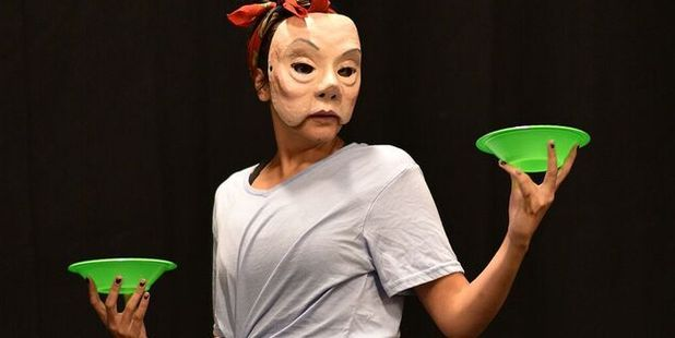Wearing masks allows actors in Leilani to entirely vanish into the characters