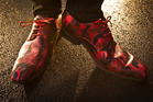 TWINKLE TOES: Paul Hickey's dancing shoes are ready to twirl around the dance floor. PHOTO/STEPHEN PARKER