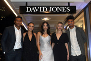 Guests at last night's  David Jones opening in Wellington. L to R. Julian and Fatima Savea, Jessica Gomes, Saskia Hartmann-Hechenberger and Ardie Savea. Photograph by Norrie Montgomery.
