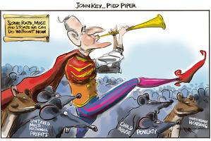Cartoon: John Key - Pied Piper