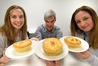 PASTRY PUFF: Award winning pie. L-R Anna Whyte, Andrew Warner, Sonya Bateson. PHOTO/GEORGE NOVAK