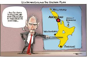 Cartoon: Unitary plan