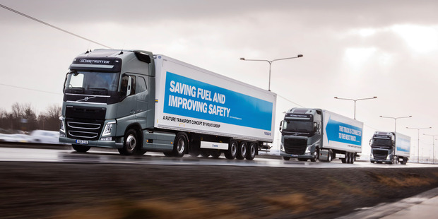 A test convoy of autonomous trucks drives across Europe this year. Photo / Supplied
