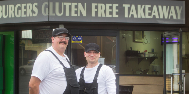 Loading COME AND GET IT: Jason Monahan and Ramsey Murray are happy to provide gluten free takeaways. PHOTO/BEN FRASER