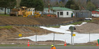 """Work is well underway, including the laying of a """"geothermal blanket"""" on Rotorua's $8.1 million State Highway 5 - State Highway 30 intersection roundabout."""