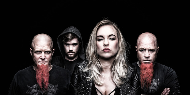 MUSIC: Jennie Skulander (front) with her rock and metal band Devilskin. PHOTO/SUPPLIED