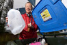 Rain or shine, Tauranga environmentalist Ann Graeme preaches the value of kerbside recycling. PHOTO/GEORGE NOVAK