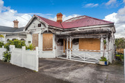 The fire damaged house in Grey Lynn is up for sale. Photo / Supplied