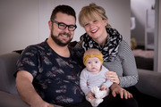 Tim Hills, Shanna Breman-Trewern and baby Hazel have the internet to thank for their happy ever after. Photo / Dean Purcell