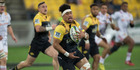 Hurricanes flanker Ardie Savea breaking the Chiefs defence during their 2016 Investec Super Rugby semi-final. Photo / Mark Mitchell