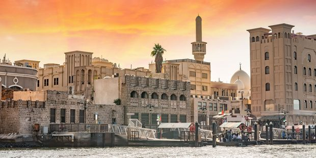 The old architecture of Dubai on the creek. Photo / 123RF