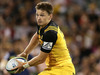 Hurricanes first-five Beauden Barrett looks to pass. Photo / Getty Images
