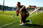 Manu Vatuvei scored his 150th NRL try last weekend against the Canberra Raiders before leaving with a knee injury. Photo / Getty Images