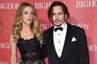 Amber Heard and Johnny Depp. Photo / AP