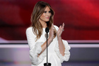 Melania Trump's official online biography has disappeared after questions surfaced about whether she had earned a college degree. Photo / AP