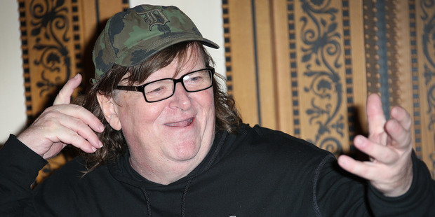 Director Michael Moore thinks Republican Donald Trump is going to win the upcoming presidential election. Photo / AP
