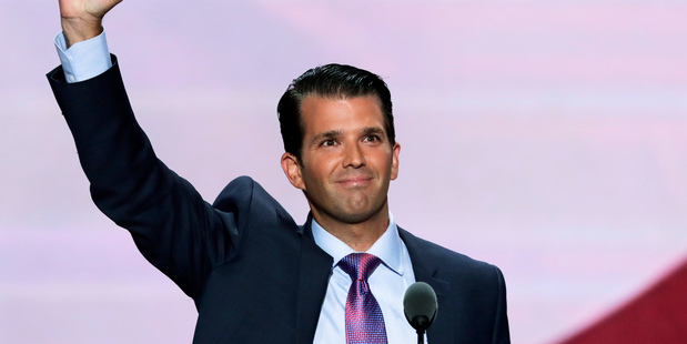 Donald Trump Jr claims Barack Obama ripped the quote 'That's not the America I know' from his Republican National Convention speech. Photo / AP