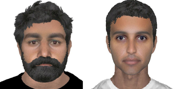 This undated handout e-fit images made available on Wednesday July 27, 2016 by Norfolk Police of two suspects wanted in connection with the attempted abduction of an RAF serviceman. Photo / AP
