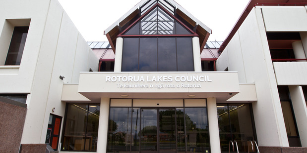 """Rotorua Lakes Council building. 4 February 2016 Daily Post Photograph by Stephen Parker RGP 05Feb16 - RGP 06Feb16 - CONVENIENT: Politicians use the concept of """"democracy"""" to justify"""
