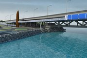 Computer generated image of the proposed Skypath cycleway and pedestrian footbridge. Photo / Supplied