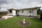 This South Auckland house has been sold five times in nine months, for a capital gain of $255,000. Photo / Brett Phibbs.